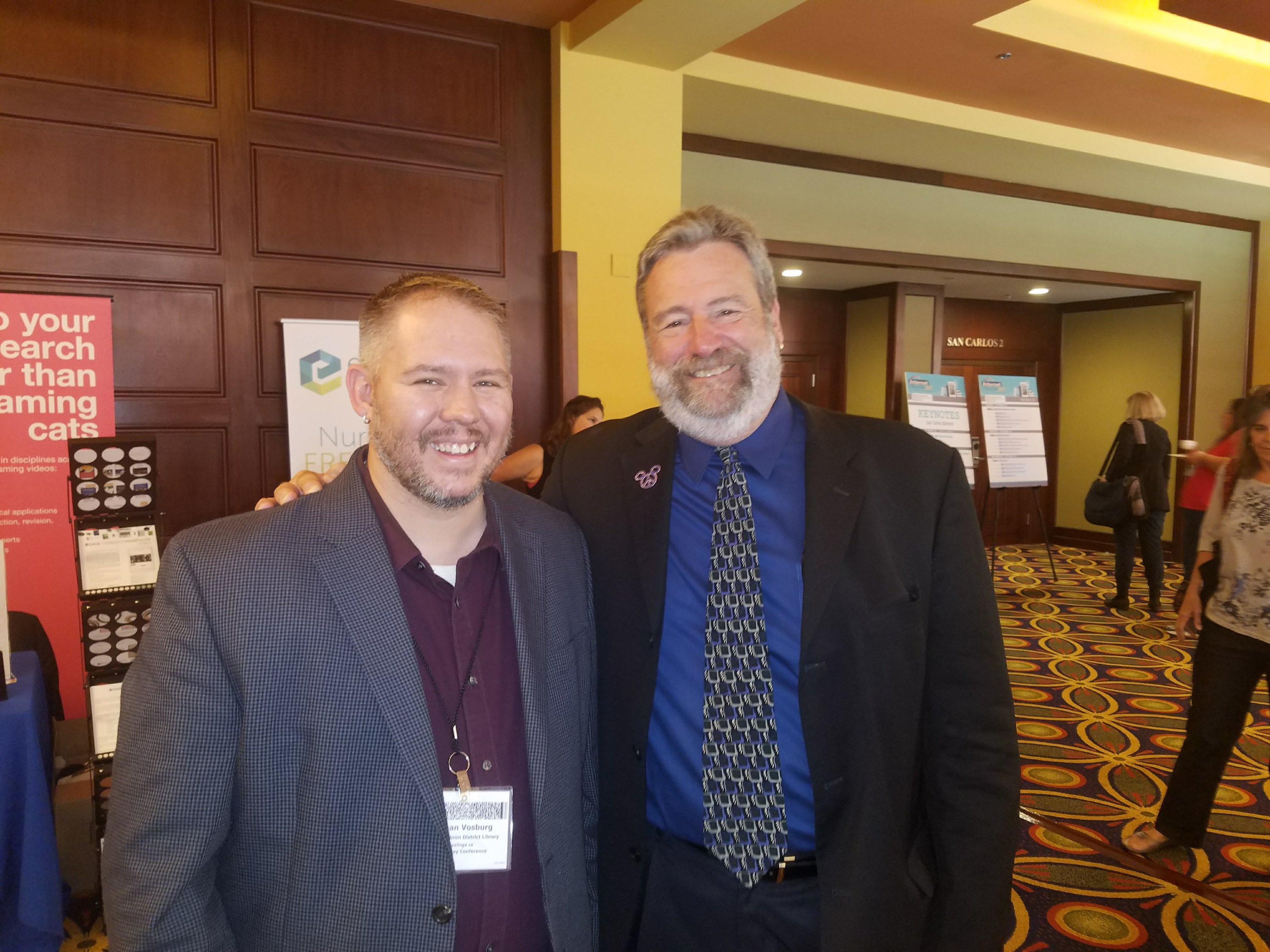 State Librarian Greg Lucas and Nathan Vosburg Internet Librarian 2017